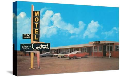 Central Motel--Stretched Canvas Print