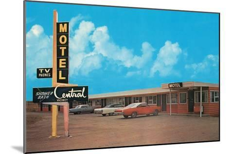Central Motel--Mounted Art Print