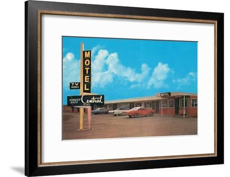 Central Motel--Framed Art Print