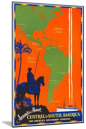 Around and About Central and South America Travel Poster--Mounted Art Print