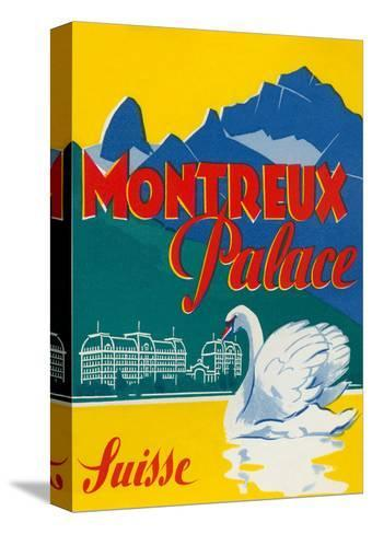 Travel Poster for Montreux, Switzerland--Stretched Canvas Print