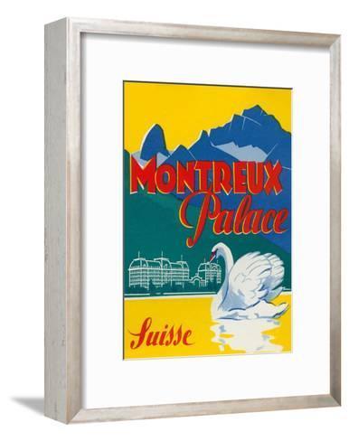 Travel Poster for Montreux, Switzerland--Framed Art Print