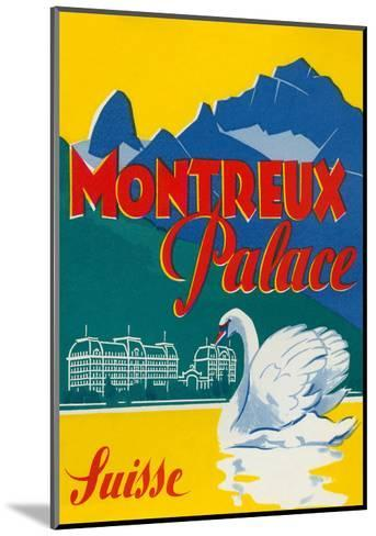 Travel Poster for Montreux, Switzerland--Mounted Art Print