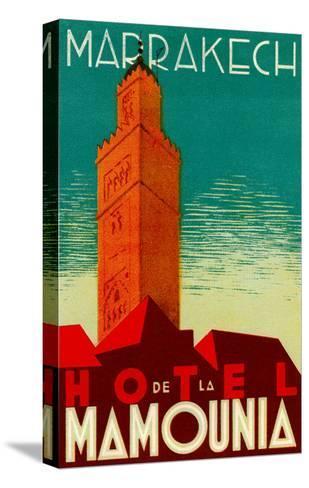 Hotel De La Mamounia--Stretched Canvas Print