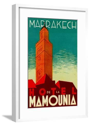 Hotel De La Mamounia--Framed Art Print
