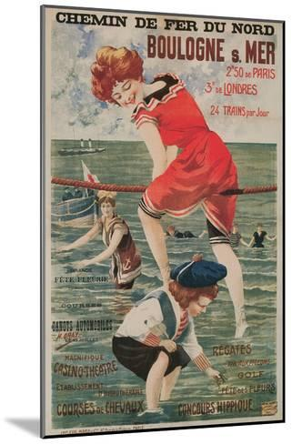 Early French Bathing Beauty, Boulogne--Mounted Art Print