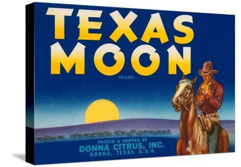 Packing Crate Label, Texas Moon--Stretched Canvas Print