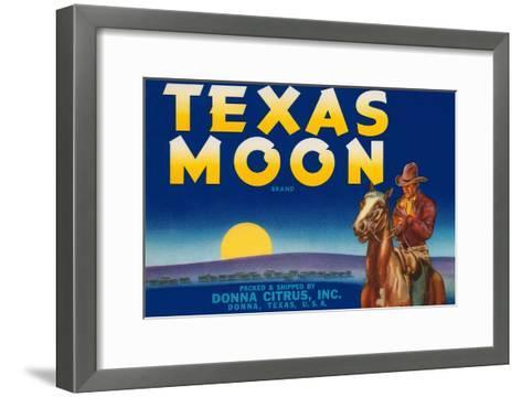 Packing Crate Label, Texas Moon--Framed Art Print