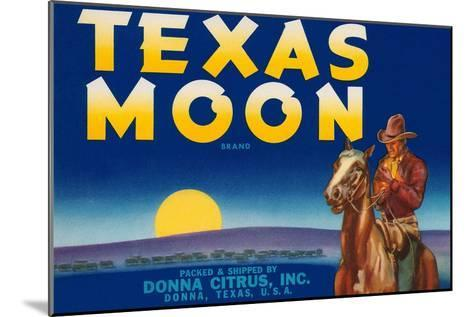 Packing Crate Label, Texas Moon--Mounted Art Print