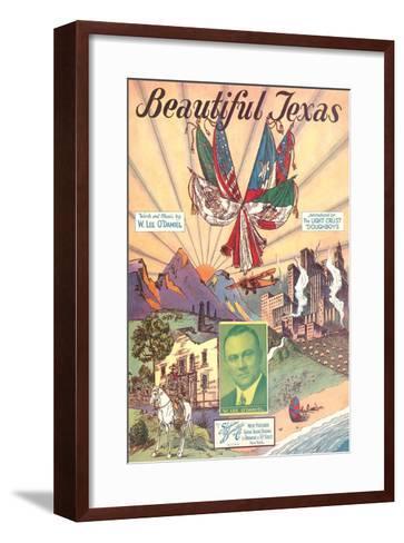 Sheet Music for Beautiful Texas--Framed Art Print