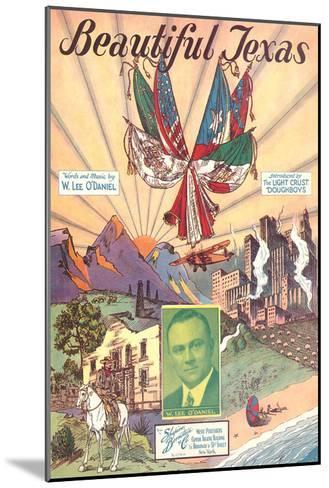 Sheet Music for Beautiful Texas--Mounted Art Print