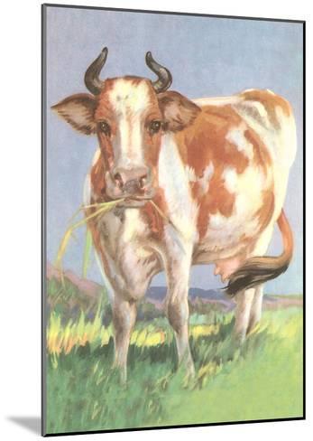 Cow--Mounted Art Print
