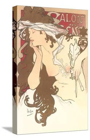 Art Nouveau Semi-Nude--Stretched Canvas Print
