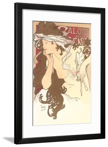 Art Nouveau Semi-Nude--Framed Art Print