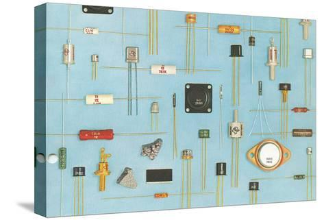 Electronic Components--Stretched Canvas Print
