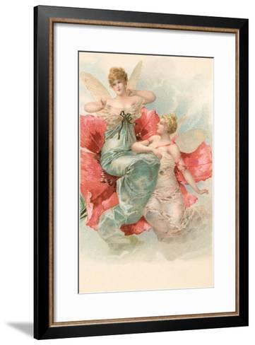 Tiny Angels in Poppy Flower--Framed Art Print