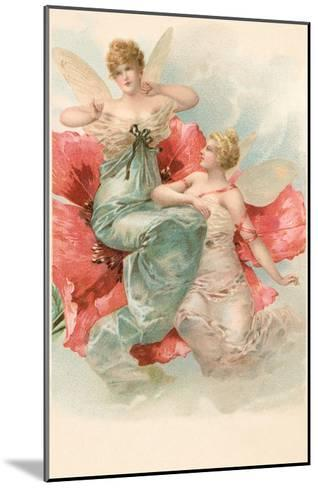 Tiny Angels in Poppy Flower--Mounted Art Print