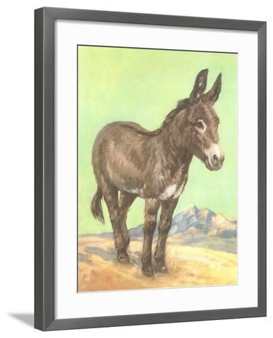 Donkey--Framed Art Print