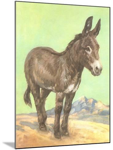 Donkey--Mounted Art Print