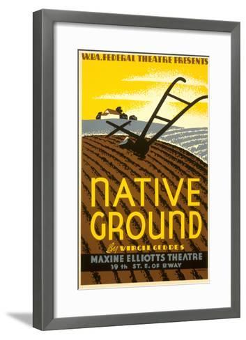 Wpa Poster for Native Ground Play--Framed Art Print