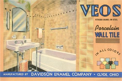 Bathroom Tile Advertisement--Stretched Canvas Print
