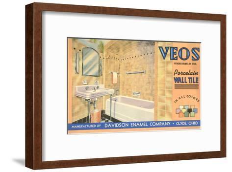 Bathroom Tile Advertisement--Framed Art Print