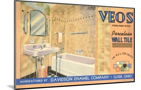 Bathroom Tile Advertisement--Mounted Art Print