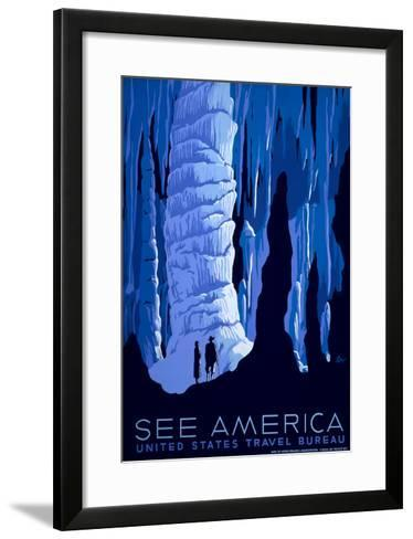 See American Travel Poster, Caverns--Framed Art Print