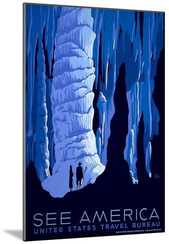 See American Travel Poster, Caverns--Mounted Art Print
