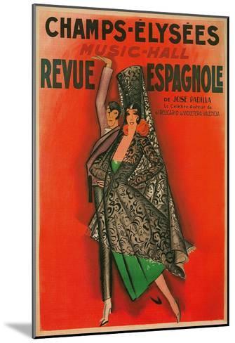 Poster for Flamenco Dancers--Mounted Art Print