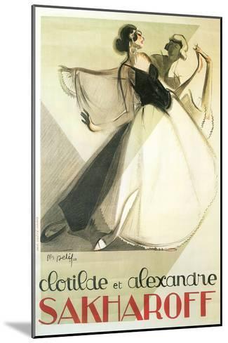 Sakharoff Dance Poster--Mounted Art Print
