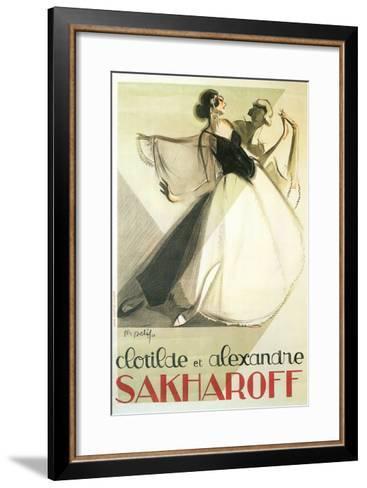 Sakharoff Dance Poster--Framed Art Print