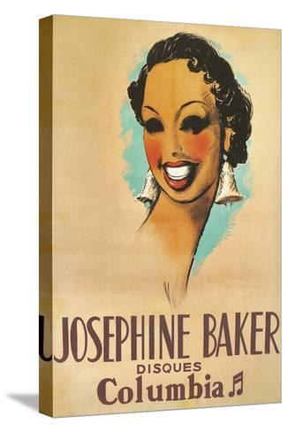 Josephine Baker Record Advertisement--Stretched Canvas Print