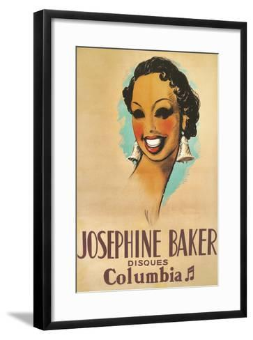 Josephine Baker Record Advertisement--Framed Art Print