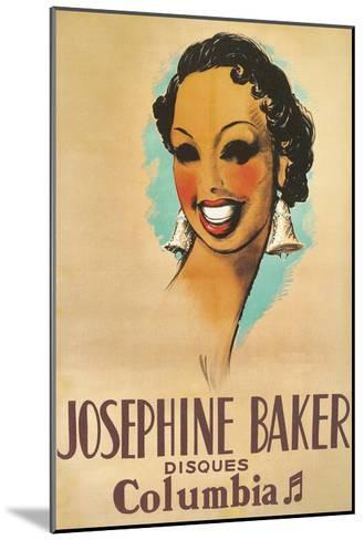 Josephine Baker Record Advertisement--Mounted Art Print