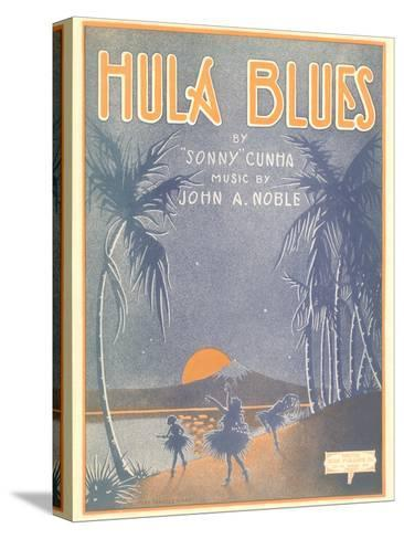 Sheet Music for Hula Blues--Stretched Canvas Print