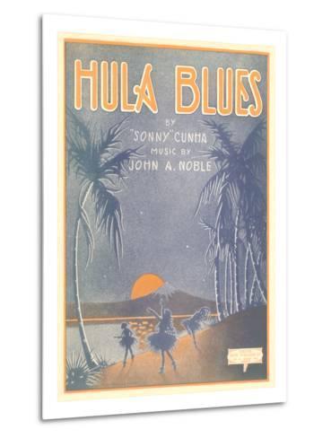 Sheet Music for Hula Blues--Metal Print