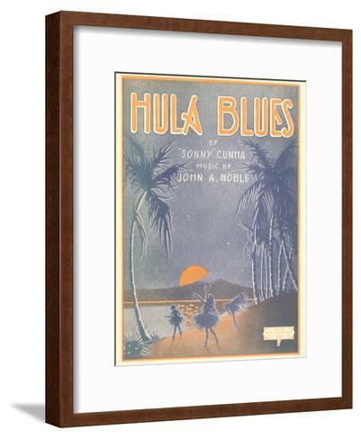Sheet Music for Hula Blues--Framed Art Print