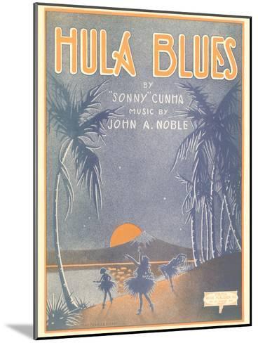 Sheet Music for Hula Blues--Mounted Art Print