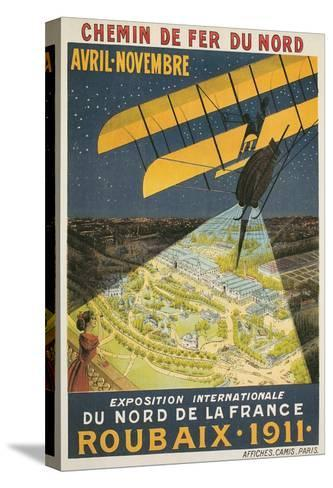 Early French Air Show Poster--Stretched Canvas Print