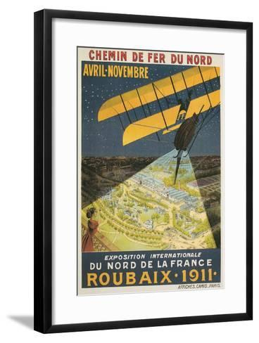 Early French Air Show Poster--Framed Art Print