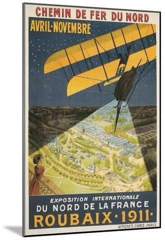 Early French Air Show Poster--Mounted Art Print