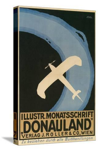 Donauland Magazine Cover, Airplane--Stretched Canvas Print