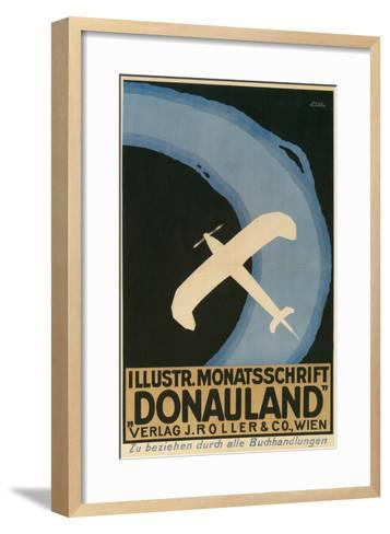 Donauland Magazine Cover, Airplane--Framed Art Print