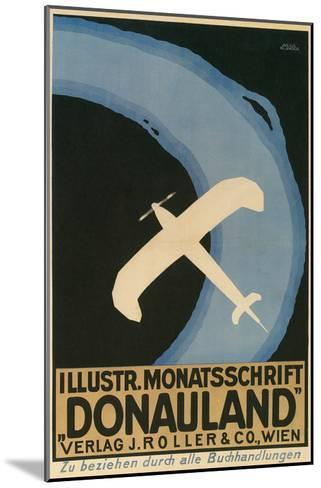 Donauland Magazine Cover, Airplane--Mounted Art Print