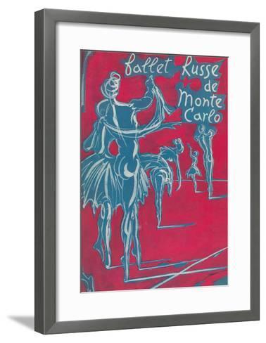 Poster for Ballet Russe De Monte Carlo--Framed Art Print