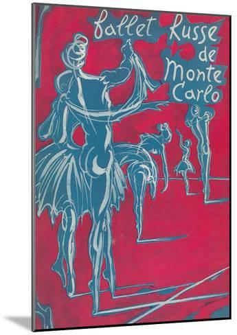 Poster for Ballet Russe De Monte Carlo--Mounted Art Print