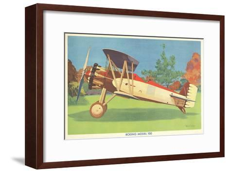Boeing Model 100 Airplane--Framed Art Print