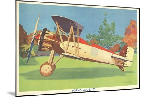 Boeing Model 100 Airplane--Mounted Art Print
