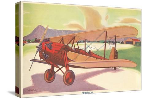 Spartan Biplane--Stretched Canvas Print